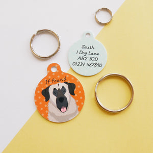 Anatolian Shepherd Personalised Dog ID Tag  - Hoobynoo - Personalised Pet Tags and Gifts