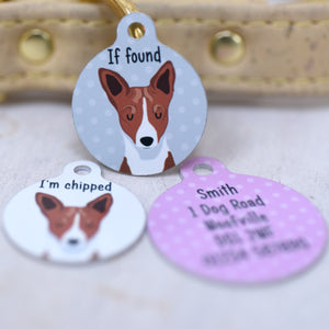 Basenji Dog Tag Personalised