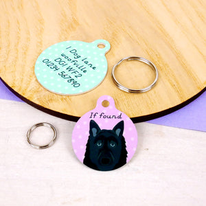 Belgian Shepherd Dog ID Tag  - Hoobynoo - Personalised Pet Tags and Gifts
