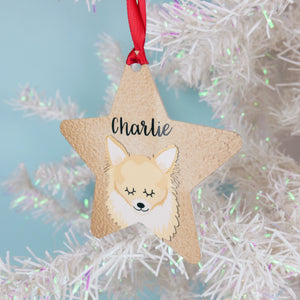 Chihuahua Copper Printed Personalised Dog Christmas Decoration  - Hoobynoo - Personalised Pet Tags and Gifts