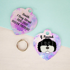 Cockapoo/Labradoodle/Bichon Frise Dog Tag -Universe HEART  - Hoobynoo - Personalised Pet Tags and Gifts