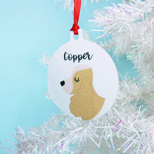 Cocker Spaniel Personalised Christmas Decoration - Bold  - Hoobynoo - Personalised Pet Tags and Gifts