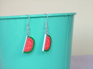 Watermelon Acrylic Kitsch Earrings