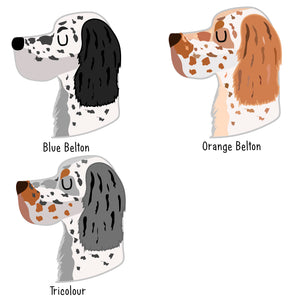 English Setter Personalised Dog ID Tag  - Hoobynoo - Personalised Pet Tags and Gifts