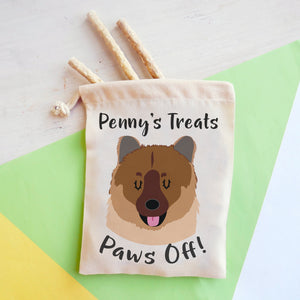 Eurasier Personalised Treat Training Bag  - Hoobynoo - Personalised Pet Tags and Gifts