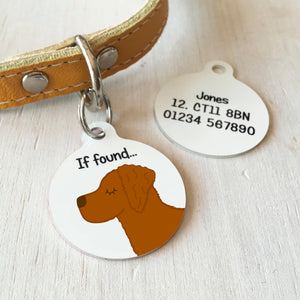 Golden Retriever Personalised name ID Tag - White  - Hoobynoo - Personalised Pet Tags and Gifts