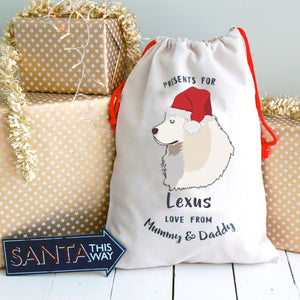 Great Pyrenees Personalised Christmas Present Sack