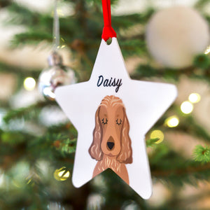 Personalised Dog Christmas Decoration Bold