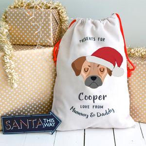 Jug Personalised Christmas Present Sack
