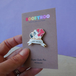 Merry Pugmas Enamel Pin  - Hoobynoo - Personalised Pet Tags and Gifts