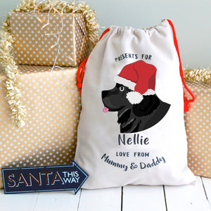 Newfoundland Personalised Christmas Present Sack