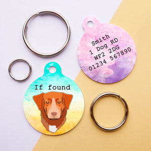 Nova Scotia Duck Tolling Retriever Personalised Dog Id Tag -  Ink Summer