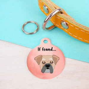 Pughasa Personalised Dog ID Tag - Copper  - Hoobynoo - Personalised Pet Tags and Gifts