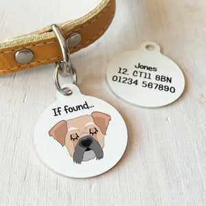 Pughasa Personalised Dog ID Tag - Bold  - Hoobynoo - Personalised Pet Tags and Gifts