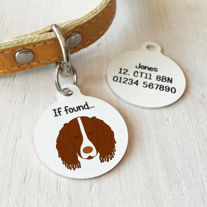 Personalised Springer Spaniel Dog Name Tag -Bold  - Hoobynoo - Personalised Pet Tags and Gifts