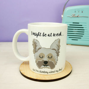 Thinking of My Dog Mug - Yorkshire Terrier  - Hoobynoo - Personalised Pet Tags and Gifts