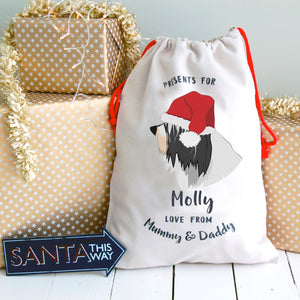 Tibetan Terrier Personalised Christmas Present Sack