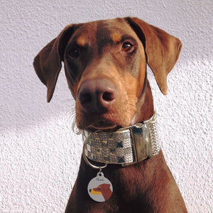 Doberman Personalised Dog Name ID Tag  - Hoobynoo - Personalised Pet Tags and Gifts