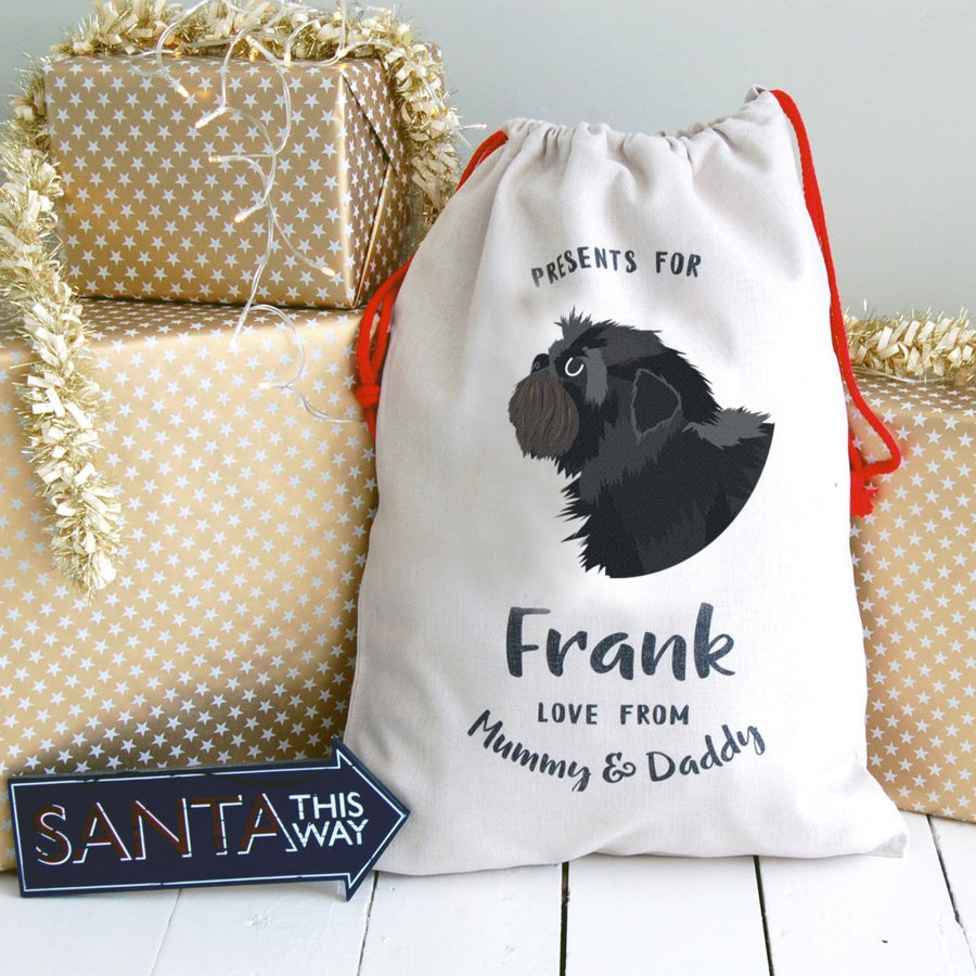 Affenpinscher Dog Treat / Christmas Sack  - Hoobynoo - Personalised Pet Tags and Gifts