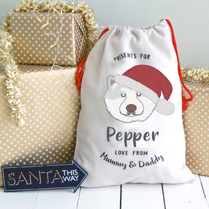 Japanese Akita Dog Treat / Christmas Sack - SMALL