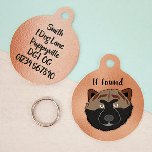 Japanese Akita Copper Personalised Dog ID Tag