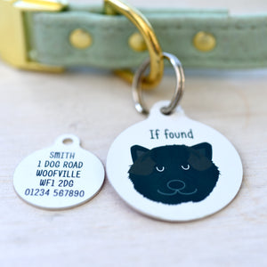 Japanese Akita Personalised Dog Tag - White