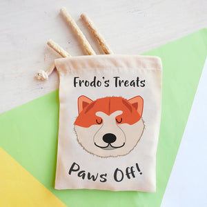 Akita Personalised Treat Training Bag  - Hoobynoo - Personalised Pet Tags and Gifts