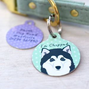 Alaskan Malamute Personalised Dog ID Tag