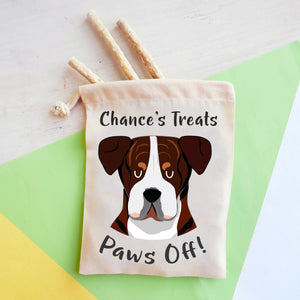 American Bulldog Personalised Treat Training Bag  - Hoobynoo - Personalised Pet Tags and Gifts