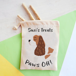 American Cocker Spaniel Personalised Treat Training Bag  - Hoobynoo - Personalised Pet Tags and Gifts