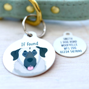 Anatolian Shepherd Personalised Dog ID Tag - WHITE
