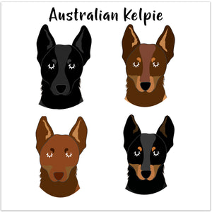 Australian Kelpie Dog Personalised Bold Ceramic Dog Bowl  - Hoobynoo - Personalised Pet Tags and Gifts