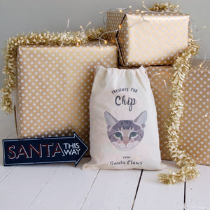 Cat Pet Sack Personalised  - Hoobynoo - Personalised Pet Tags and Gifts