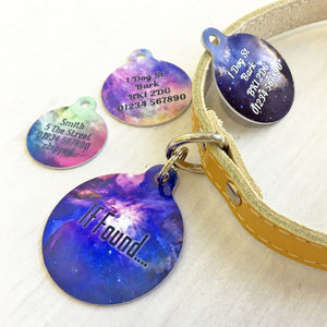 Personalised Pet ID Tag Cosmos Bauble