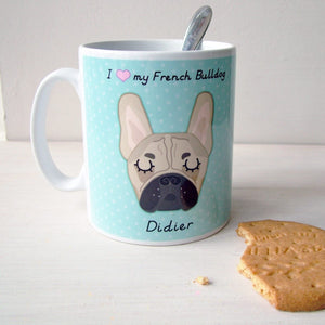 Personalised French Bulldog Mug