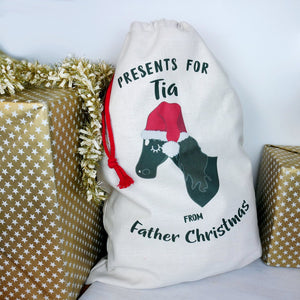 Personalised Horse Christmas Sack  - Hoobynoo - Personalised Pet Tags and Gifts