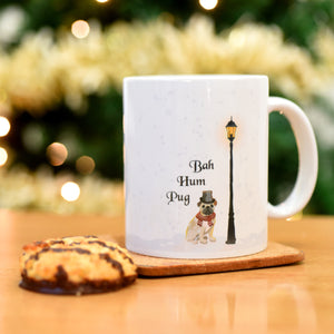 Bah Hum Pug Mug  - Hoobynoo - Personalised Pet Tags and Gifts