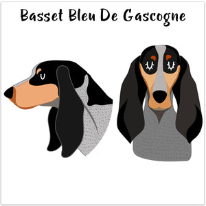 Basset Bleu De Gascogne Dog Personalised Bold Ceramic Dog Bowl  - Hoobynoo - Personalised Pet Tags and Gifts
