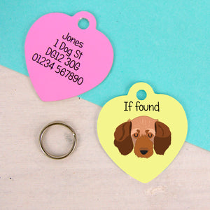 Basset fauve de Bretagne Dog Tag -HEART  - Hoobynoo - Personalised Pet Tags and Gifts