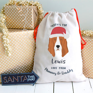 Basset Hound Dog Treat / Christmas Sack