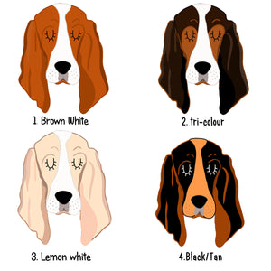 Basset Hound Dog ID Collar Tag