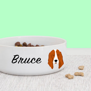 Basset Hound Dog Personalised Bold Ceramic Dog Bowl  - Hoobynoo - Personalised Pet Tags and Gifts