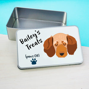 Basset fauve de Bretagne Personalised treat tin  - Hoobynoo - Personalised Pet Tags and Gifts