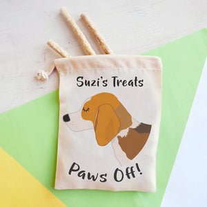 Beagle Personalised Treat Training Bag  - Hoobynoo - Personalised Pet Tags and Gifts
