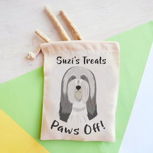 Bearded Collie Personalised Treat Training Bag  - Hoobynoo - Personalised Pet Tags and Gifts