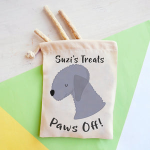 Bedlington Terrier Personalised Treat Training Bag  - Hoobynoo - Personalised Pet Tags and Gifts