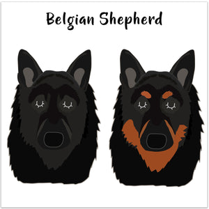 Belgian Shepherd Personalised Ceramic Dog Bowl  - Hoobynoo - Personalised Pet Tags and Gifts