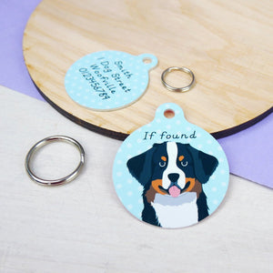 Bernese Mountain Dog Personalised Dog ID Tag