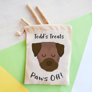 Border Terrier Personalised Treat Training Bag  - Hoobynoo - Personalised Pet Tags and Gifts