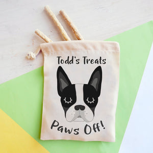 Boston Terrier Personalised Treat Training Bag  - Hoobynoo - Personalised Pet Tags and Gifts
